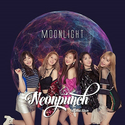NEONPUNCH [MOONLIGHT] 1st Single Album CD+Photo Book+2p Card+Photo K-POP SEALED