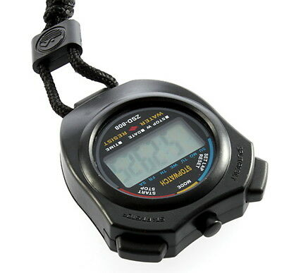 Digital Chronograph Sports Stopwatch Counter with Strap LO