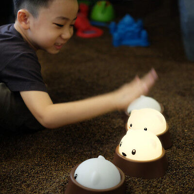 USB Press Control Gopher Night Light Rechargeable Bedside Lamps Diglett Lamp Toy