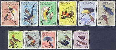 Papua New Guinea 1964 BIRDS (11) Lightly Hinged Mint SG 61-71