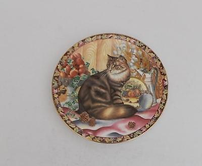 "Aynsley ""Autumn Cat"" Collectors Plate."