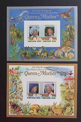 St Lucia 1985 85th Birthday Queen Mother IMPERF MS MNH UM unmounted mint