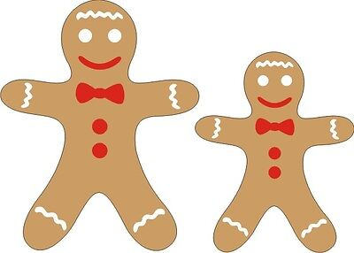 Gingerbread Men (set of 2) - Laser Cut for Scrapbooking/Cardmaking