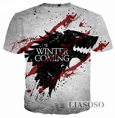 New Fashion Women/Men Game of Thrones Funny 3D Print Casual T-Shirt HT885