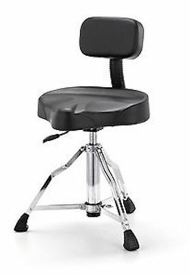 Millenium Pneumatic Drum Stool Throne With Backrest And Hydraulic Gas Lift Base