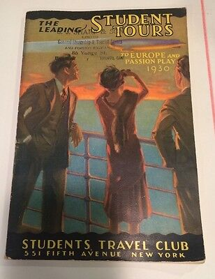 1930 Student Cruise Tours EUROPE via CUNARD AND ANCHOR LINES