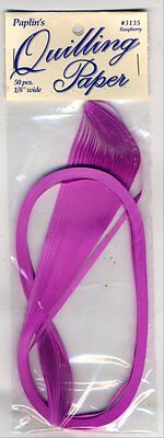 """Quilling Paper 1/8"""" 0.125"""" (3mm) 50 Per Pack - Raspberry"""