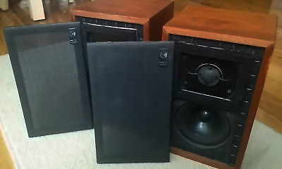 Matched pair of vintage Chartwell LS3/5A speakers BBC 15 Ohm Kef B110 T27  rare
