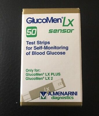 Glucomen Lx Sensor Blood Glucose 50Test Strips ( 28-02-2019 )