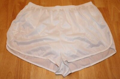Vintage 80s SHEER White Nylon REEBOK Split Running Retro Sprint Lined Shorts XL