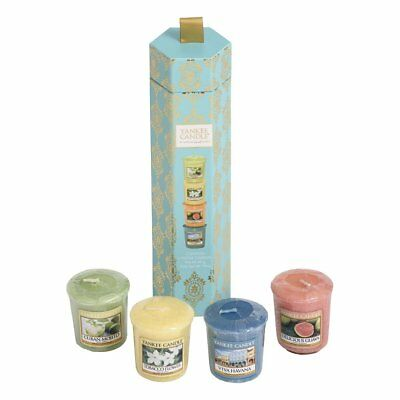 Yankee Fragrance Candle Havana 4 Votives Gift Set Christmsa Gifts, Multi-Colour