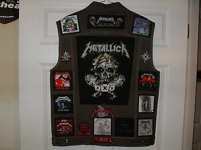 METALLICA Tribute Vests-OLIVE---XL......******* UPDATED ********************