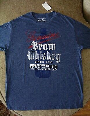 Jim Beam Bourbon Whiskey Retro T Shirt_ Size 2XL_ New with tags_Licensed Product