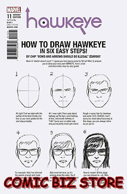 Hawkeye #10 (2017) 1St Printing Zdarsky How To Draw Variant Cover Marvel Comics