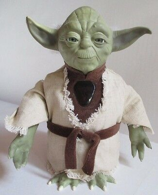 Star Wars INTERACTIVE YODA Working Electronics 2000 Very Detailed 8in. tall USED