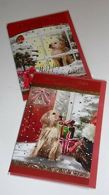 "GENERAL CHRISTMAS CARDS x12, just 27p! FOILED, 5"" X 7"" (B77"