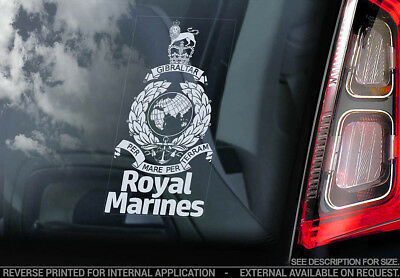Royal Marines - Car Window Sticker - Forces Military British Navy Army Decal