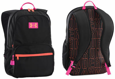Girls Under Armour Great Escape Bookbag Backpack Black Pink 1260542 New School