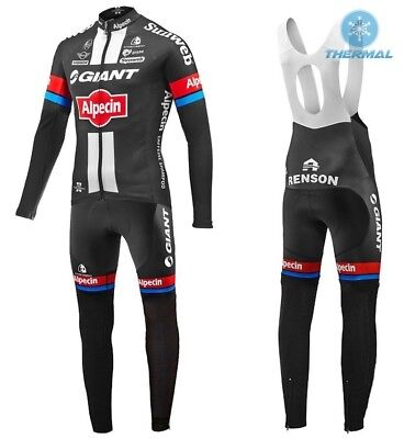 Team Giant Alpecin Cycling Jersey, pad bib tights - Long sleeve lined, UK seller