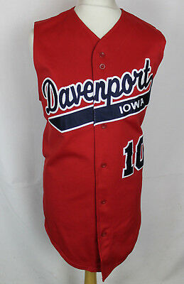 Daniel #10 Davenport Iowa Sleeveless Baseball Jersey Mens Large Teamwork Rare