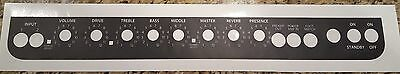 Fender Blues Deluxe Control Panel Overlay Black W/ White Letters