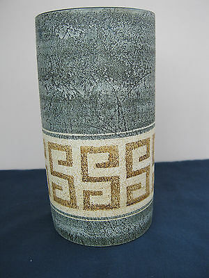 REDUCED! Original & Authentic Signed LargeTroika Cylinder Vase In Excellent Con.