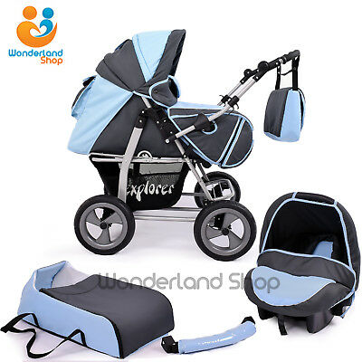 Pram Pushchair 3in1 Car Seat Buggy Stroller MANY COLOURS + FREE DELIVERY