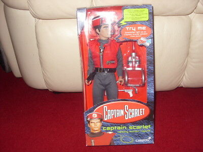 """Capt.scarlet Talking Action Figure  12"""" Carlton Approx. Boxed"""