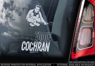 Eddie Cochran - Car Window Sticker - Country Rock & Roll Music Decal Rockabilly