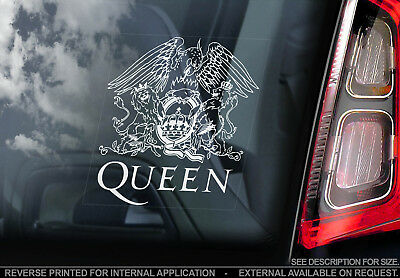 Queen - Car Window Sticker - Freddie Mercury Rock Band Music Decal Sign - V01