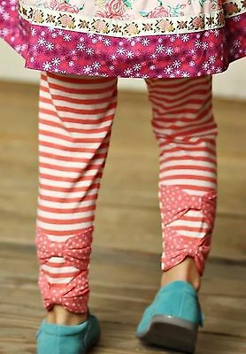 Matilda Jane Friends Forever Zola Stripe Ruffled Leggings 10 NWT Valentine