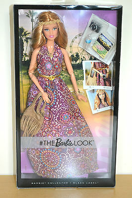 2016 Black Label THE LOOK BOHO FESTIVAL Barbie - New Slightly Damaged Box