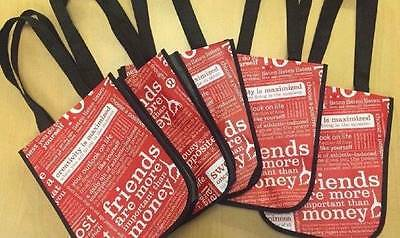 Lululemon NEW Set of 5 Reusable Small Shopping Bags Tote Bag Manifesto Carry All