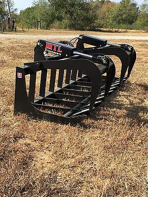 """New HD 78"""" Skid Steer Root Grapple Bucket Twin Cylinder - Bobcat - Universal fit"""