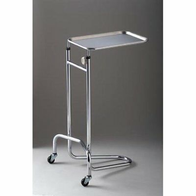 """DUKAL 4368 Tech-Med Mayo Stand with Large Tray, Double Post, 20"""" Base Width,"""