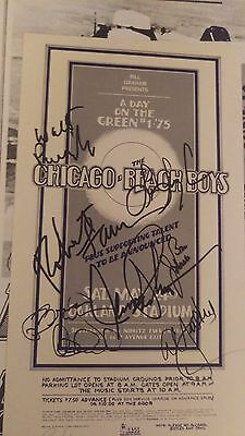 Beach Boys Chicago 1975 Rock  Autographed Concert Poster