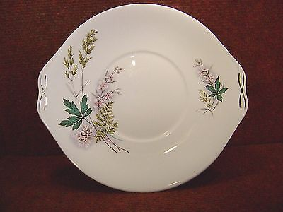 """QUEEN ANNE """" LOUISE """" Floral & Foliage 10"""" CAKE PLATE c1959 - FREE UK POSTAGE"""