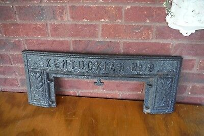 """Antique Cast Iron Stove or Fireplace Architectural Salvage Piece 26"""" x 10""""."""