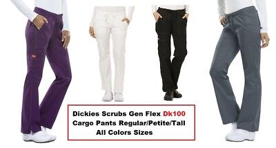 Dickies Gen Flex Scrubs Dk100 Cargo Pants Regular/Petite/Tall All Colors Sizes