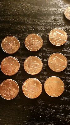 2009 P&D Lincoln Cent Bicentennial Penny Set (8 coins) Same Day Ship
