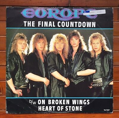 """Europe *the Final Countdown* 3 Track 12"""" Vinyl Record"""