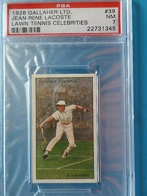 1928 GALLAHER Ltd. Lawn Tennis Celebrities Jean RENE LACOSTE card PSA 7 NrMINT