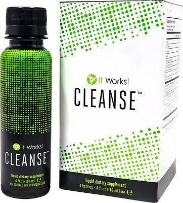 It Works! Cleanse - 4- 4oz Bottles - Brand New & Sealed EXP 06/18