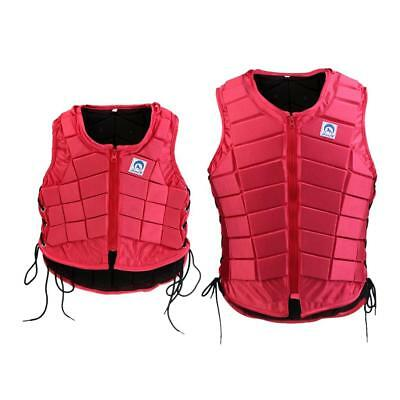 Kids Adult Safety Equestrian Horse Riding Vest EVA Padded Body Protector Red