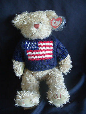 """TY  BEAR - ATTIC TREASURES- 14"""" GRANT  WITH TAG-collector"""
