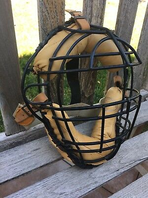 AWESOME Old MINT JC Higgins Vintage Early Antique SQUARE Spitter Catchers Mask