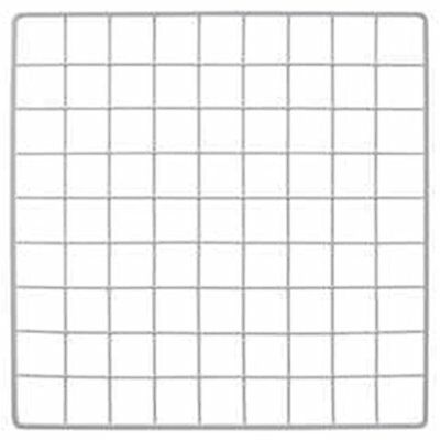 "Mini White Grid Panel 14"" X H 1.5"" Squares Vinyl Dipped NEW"