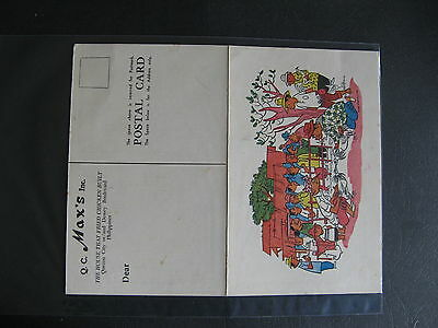 Postcard & Menu Q C Max's Inc The House That Fried Chicken Built Philippines