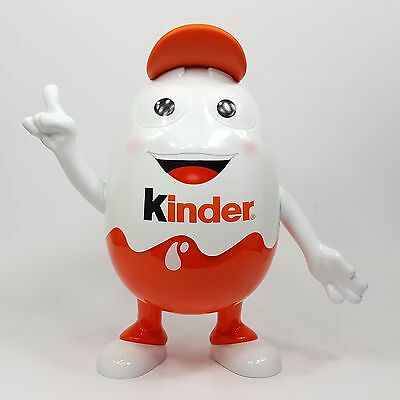 "Kinder Egg Display Figurine 9"" Baseball Cap Moveable Arms Super Clean Ferrero"