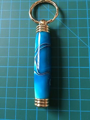 Secret Compartment Key Ring. Ideal For Needles. Sky Blue
